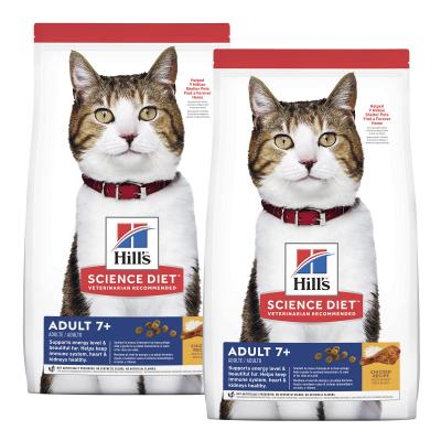 Hills Science Diet Chicken Recipe 7+ Mature/Senior Dry Cat Food 12kg (6500HG)