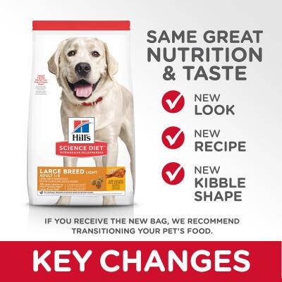 Hills Science Diet Chicken Meal And Barley Light Large Breed Adult Dry Dog Food 24kg (10318HG)