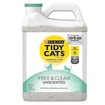Purina Petlife Tidy Cats Clumping Clay Litter Free And Clean Unscented For Cats 6.35kg