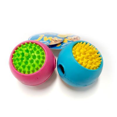 JW Grass Ball Medium Rubber Treat Dispenser Toy For Dogs