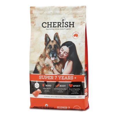 Cherish Super 7+ Years Salmon And Chicken Dry Dog Food 15kg