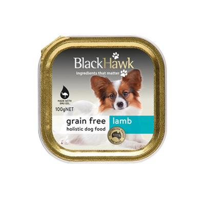 Black Hawk Grain Free Lamb Adult Canned Wet Dog Food 100gm X 9