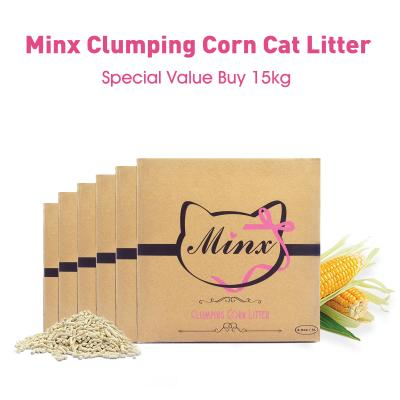 Minx Clumping Corn Cat Litter Special Value Buy 15kg*