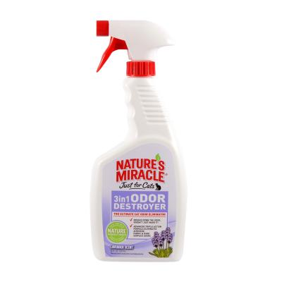 Natures Miracle Just For Cats 3 In 1 Odour Destroyer Lavender Scent Spray 709ml