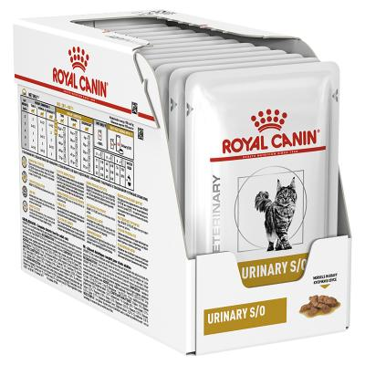 Royal Canin Veterinary Diet Feline S/O Urinary Chicken Pouch Wet Cat Food 85gm x 12