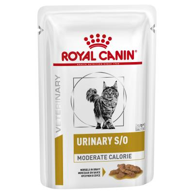 Royal Canin Veterinary Diet Feline S/O Urinary Moderate Calorie Pouch Wet Cat Food 85gm x 12