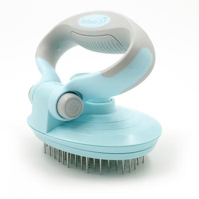 Vetnex Grooming Self-Cleaning Pin Brush Blue For Dogs