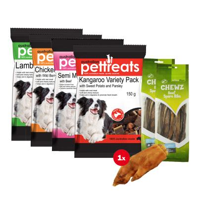Down On The Farm Beef Chicken Roo Lamb Pork Variety Treat Pack For Dogs