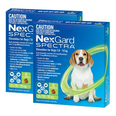 NexGard Spectra Chewables For Dogs Green 7.6-15kg 12 Pack