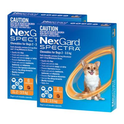 NexGard Spectra Chewables For Dogs Orange 2-3.5kg 12 Pack