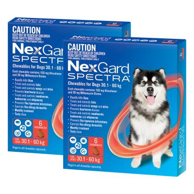 NexGard Spectra Chewables For Dogs Red 30.1-60kg 12 Pack