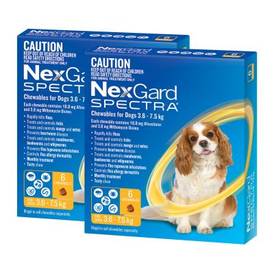 NexGard Spectra Chewables For Small Dogs Yellow 3.6 -7.5kg 12 Pack