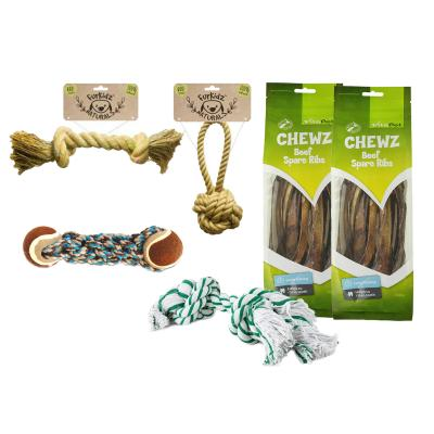 Ropes And Ribs Toy And Treat Variety Pack Medium For Dogs