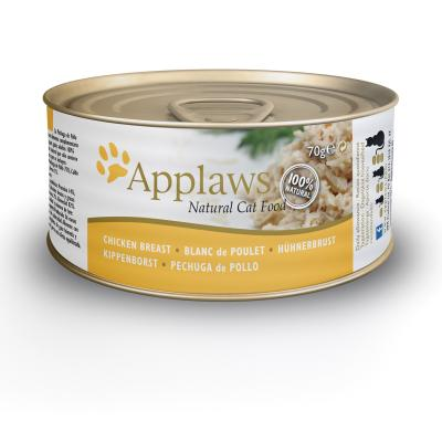 Applaws Chicken Breast Adult Canned Wet Cat Food 70g x 24