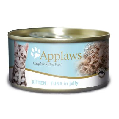 Applaws Kitten Tuna In Jelly Canned Wet Cat Food 70g x 24