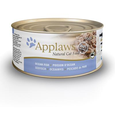 Applaws Ocean Fish Adult Canned Wet Cat Food 70g x 24