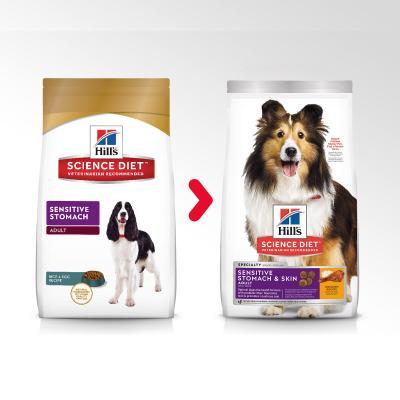 Hills Science Diet Sensitive Stomach Adult Dry Dog Food 2kg (1136HG)