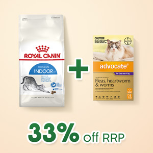 Royal Canin Indoor 10kg And Advocate 6pk