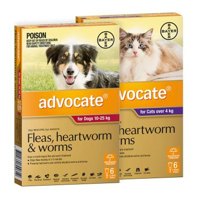 Advocate For Cats Large Over 4kg 6 Pack With Advocate For Dogs Large Red 10-25kg 6 Pack