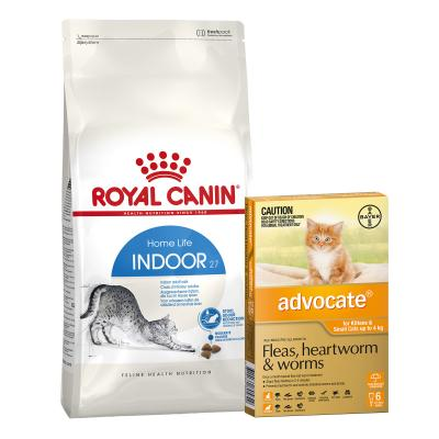 Advocate For Cats And Kittens Small Up To 4kg 6 Pack With Royal Canin Indoor Adult Dry Cat Food 10kg