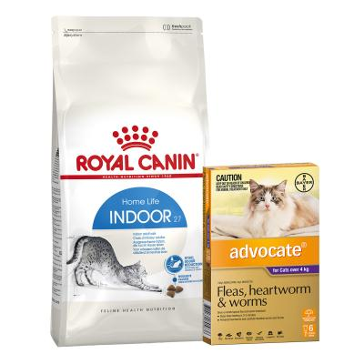 Advocate For Cats Large Over 4kg 6 Pack With Royal Canin Indoor Adult Dry Cat Food 10kg