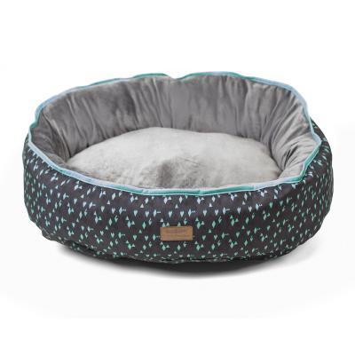 Kazoo Funky Teal Grey Black Small Cushion Bed For Dogs (60 x 45cm)