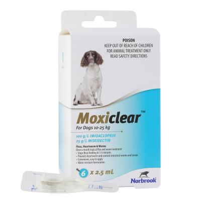 Moxiclear For Dogs 10-25kg 6 Pack