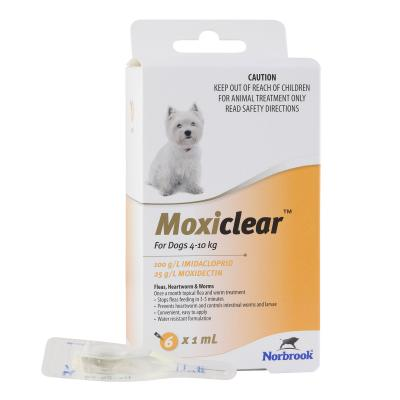 Moxiclear For Dogs 4-10kg 6 Pack