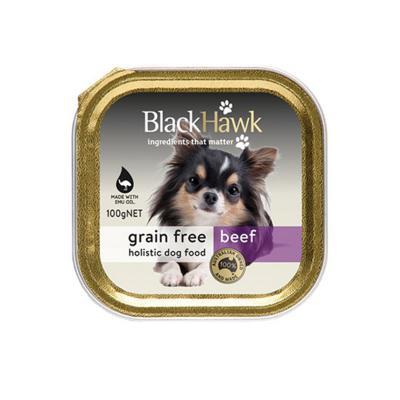 Black Hawk Grain Free Beef Adult Canned Wet Dog Food 100gm X 9