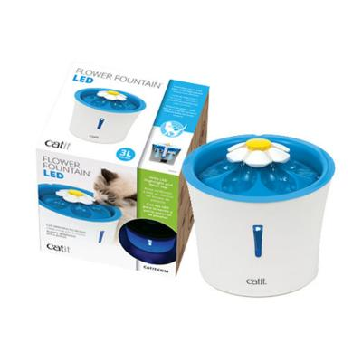 Catit 2.0 Senses Flower Water Fountain 3L With LED Light Indicator For Cats