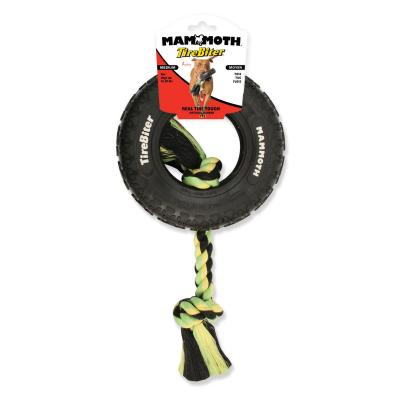 Mammoth TireBiter Paw Tread Rubber With Rope Medium Tyre Toy For Dogs
