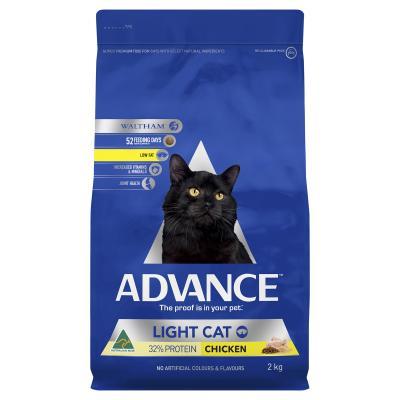 Advance Light Chicken Adult Dry Cat Food 2kg