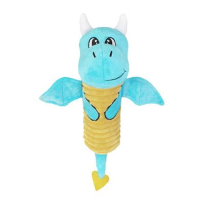 Yours Droolly Crackle Dragon Light Blue Plush Toy For Dogs