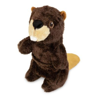 Yours Droolly Stretchy Beaver Soft Plush Squeaker Toy For Dogs