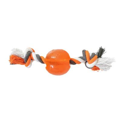 Yours Droolly Strong Rubber Ball With Rope Large Toy For Dogs