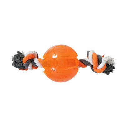 Yours Droolly Strong Rubber Ball With Rope Small Toy For Dogs