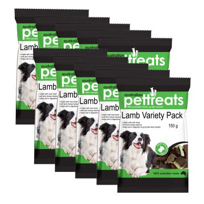 Australian Pettreats Lamb Variety Pack With Mint And Garlic For Dogs 1.5kg