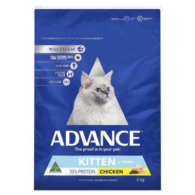 Advance Kitten Growth Chicken Dry Cat Food 6kg
