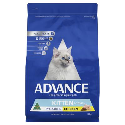 Advance Kitten Plus Growth Chicken Dry Cat Food 3kg