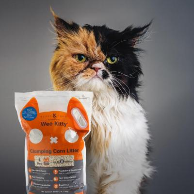 Rufus & Coco Wee Kitty Clumping Corn Cat Litter 18kg