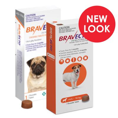 Bravecto For Small Dogs 4.5-10kg 1 Chew