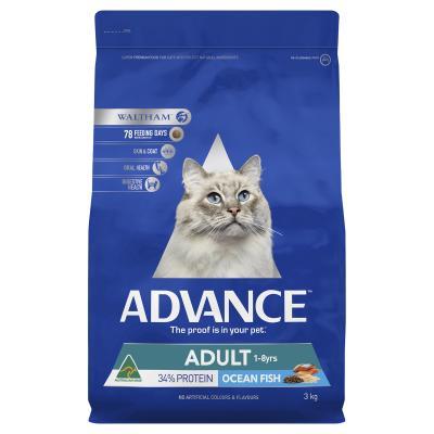 Advance Ocean Fish Adult 1-8yrs Dry Cat Food 3kg