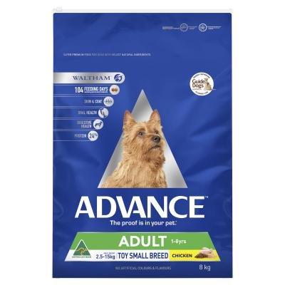 Advance Chicken Toy/Small Breed Adult 1-8 Years Dry Dog Food 8kg