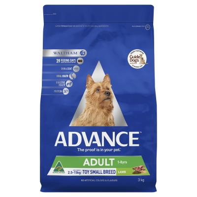 Advance Toy/Small Breed Lamb Adult Dry Dog Food 3kg
