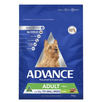 Advance Lamb Toy/Small Breed Adult 1-8 Years Dry Dog Food 8kg