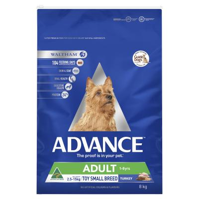 Advance Toy/Small Breed Turkey Adult Dry Dog Food 8kg