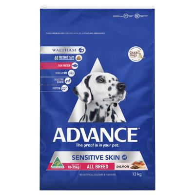 Advance Sensitive Skin All Breed Salmon Adult Dry Dog Food 13kg
