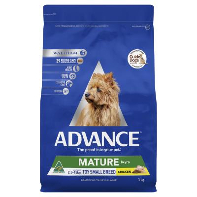 Advance Chicken Toy/Small Breed Mature 8+ Years Dry Dog Food 3kg