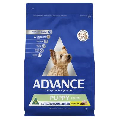 Advance Puppy Plus Rehydratable Toy/Small Breed Chicken Dry Dog Food 3kg