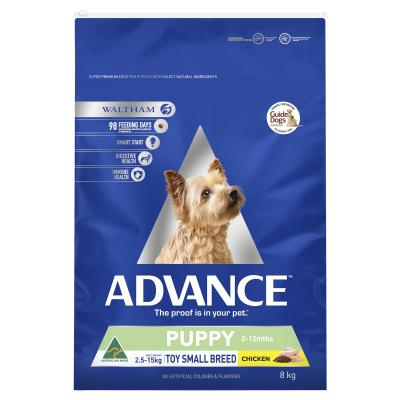 Advance Puppy Plus Rehydratable Toy/Small Breed Chicken Dry Dog Food 8kg